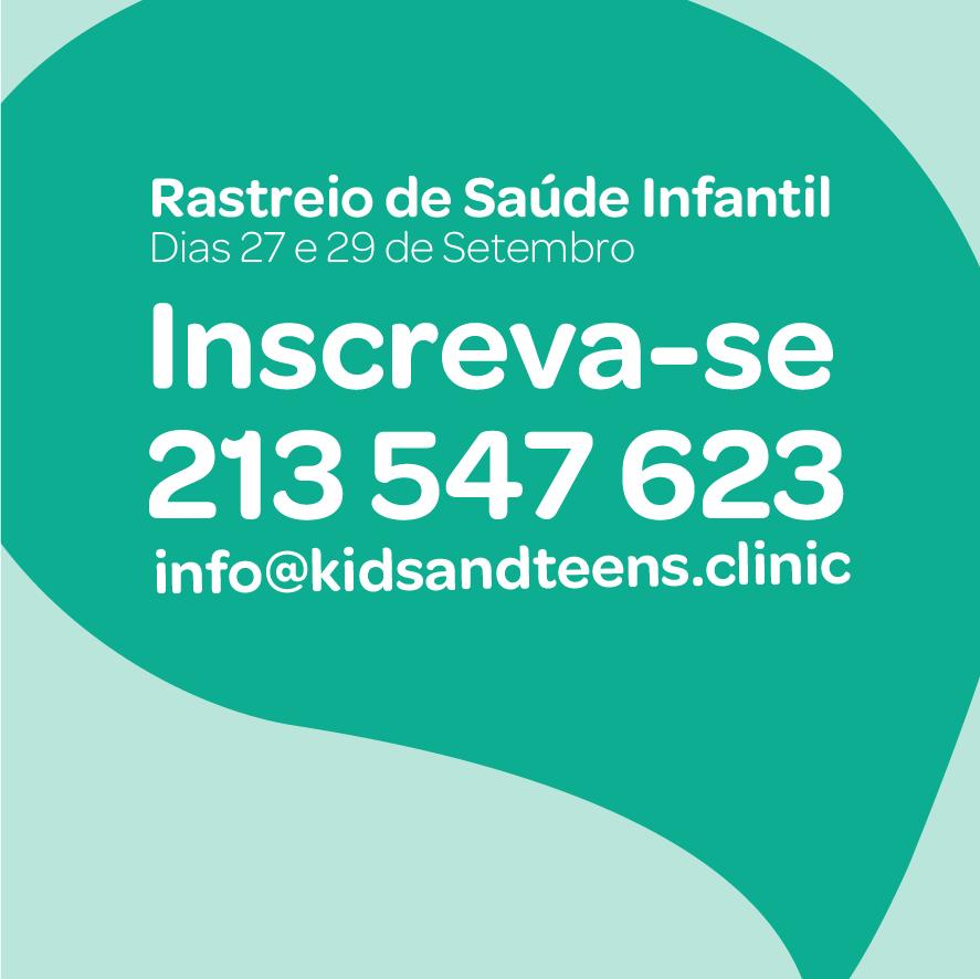 rastreio de saude infantil 27 e 29 de Setembro 2018