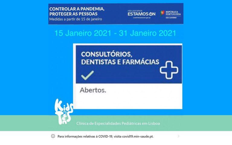 aviso da continuação das atividades da clínica kids and teens durante a quarentena covid-19